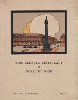 King Georges' restaurant et Hôtel du Rhin 4 et 6 place Vendome Paris
