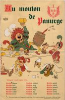 Au Mouton de Panurge<br />(menu rabelaisien) Illustrations d&lsquo;Albert Dubout